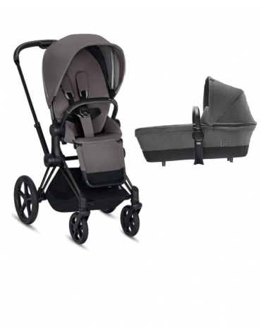 Cybex Priam III Matt black + люлька 2018